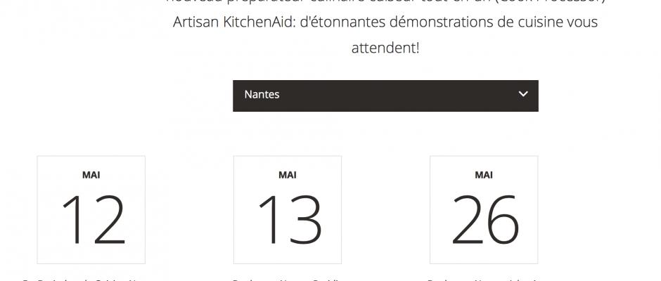 Les dates de démonstration du Cook (enfin) disponibles.