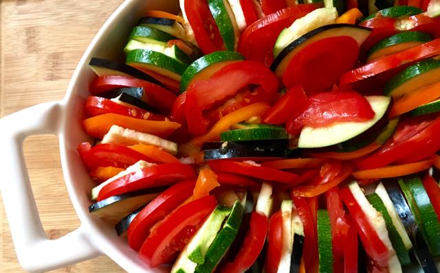 Tian aux légumes au Cook PRocessor de KitchenAid