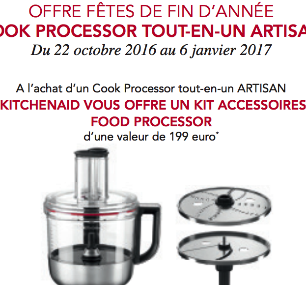 Promo kitchenaid de fin d ann e recettes pour le cook processor de kitchenaid - Recette kitchenaid cook processor ...