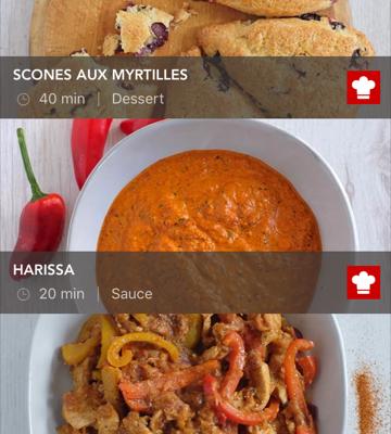 Une avalanche de recettes sur le site de KitchenAid