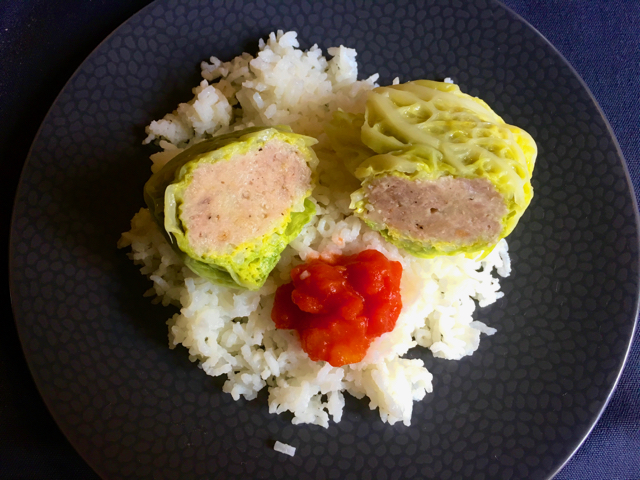 Choux farcis, riz & Sauce tomates au Cook Processor KitchenAid