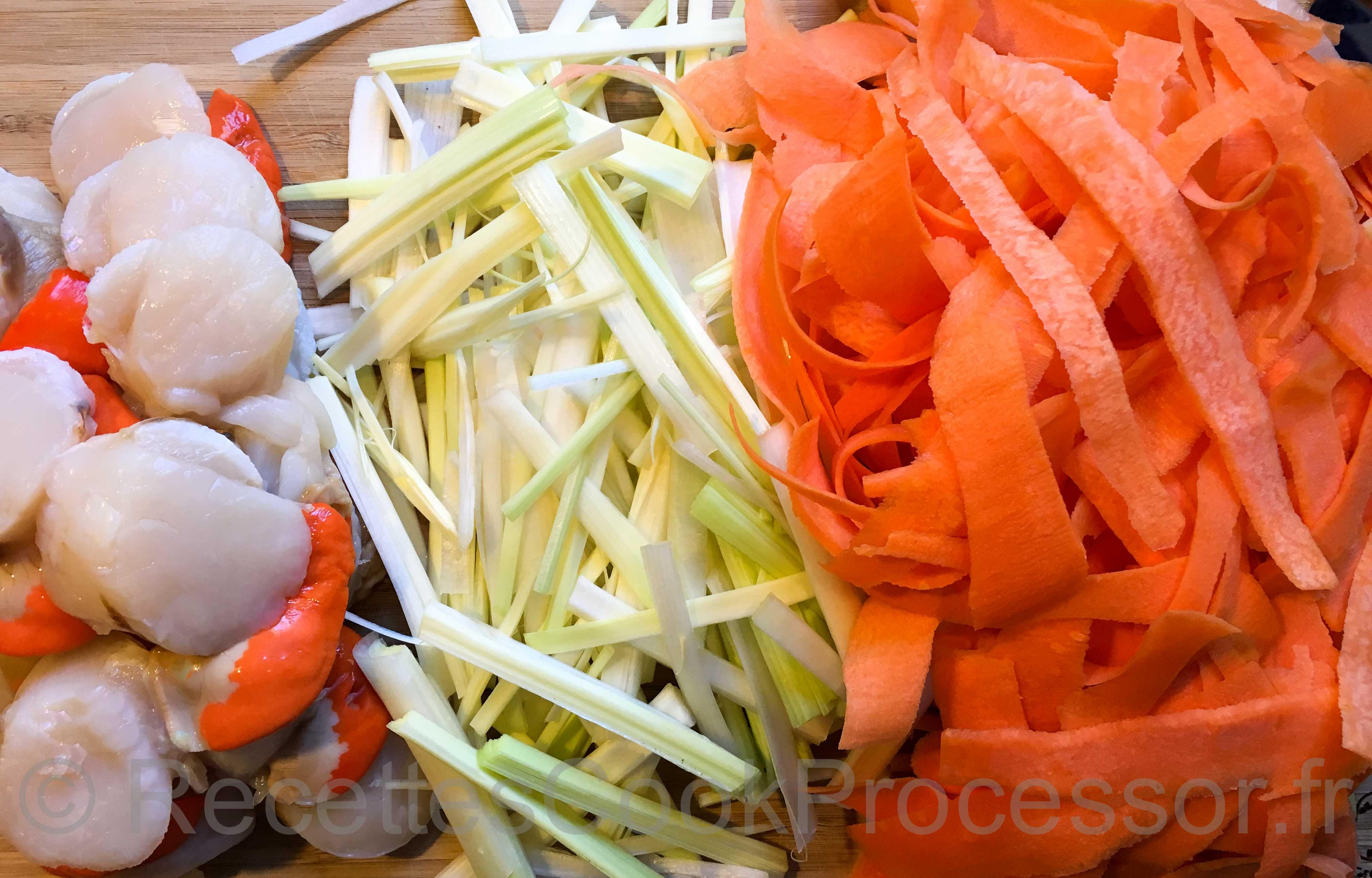 Noix de St-Jacques aux Petits Legumes au Cook Processor de KitchenAid