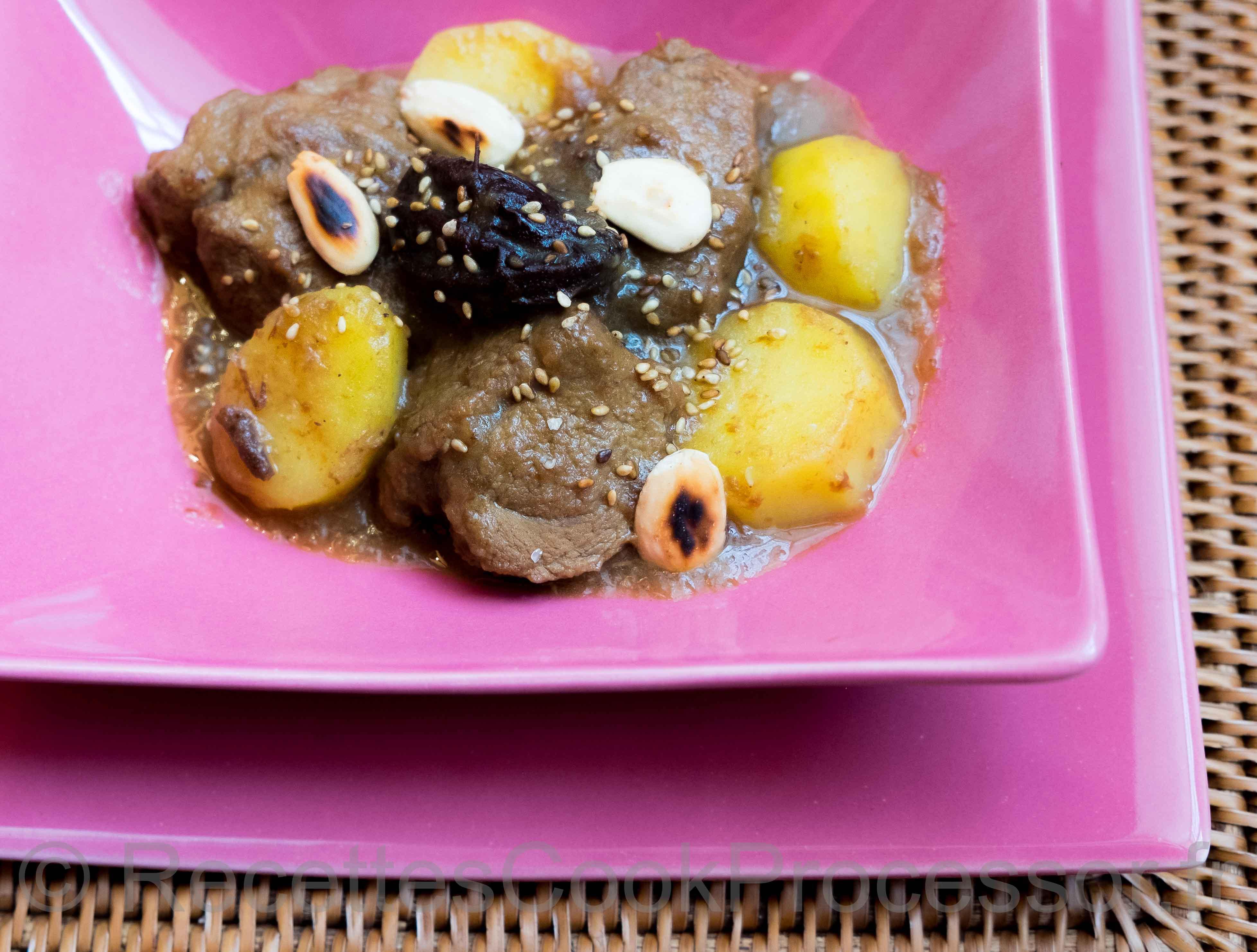 Tajine au Cook PRocessor de KitchenAid