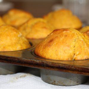 Muffins chèvre, magret et noix